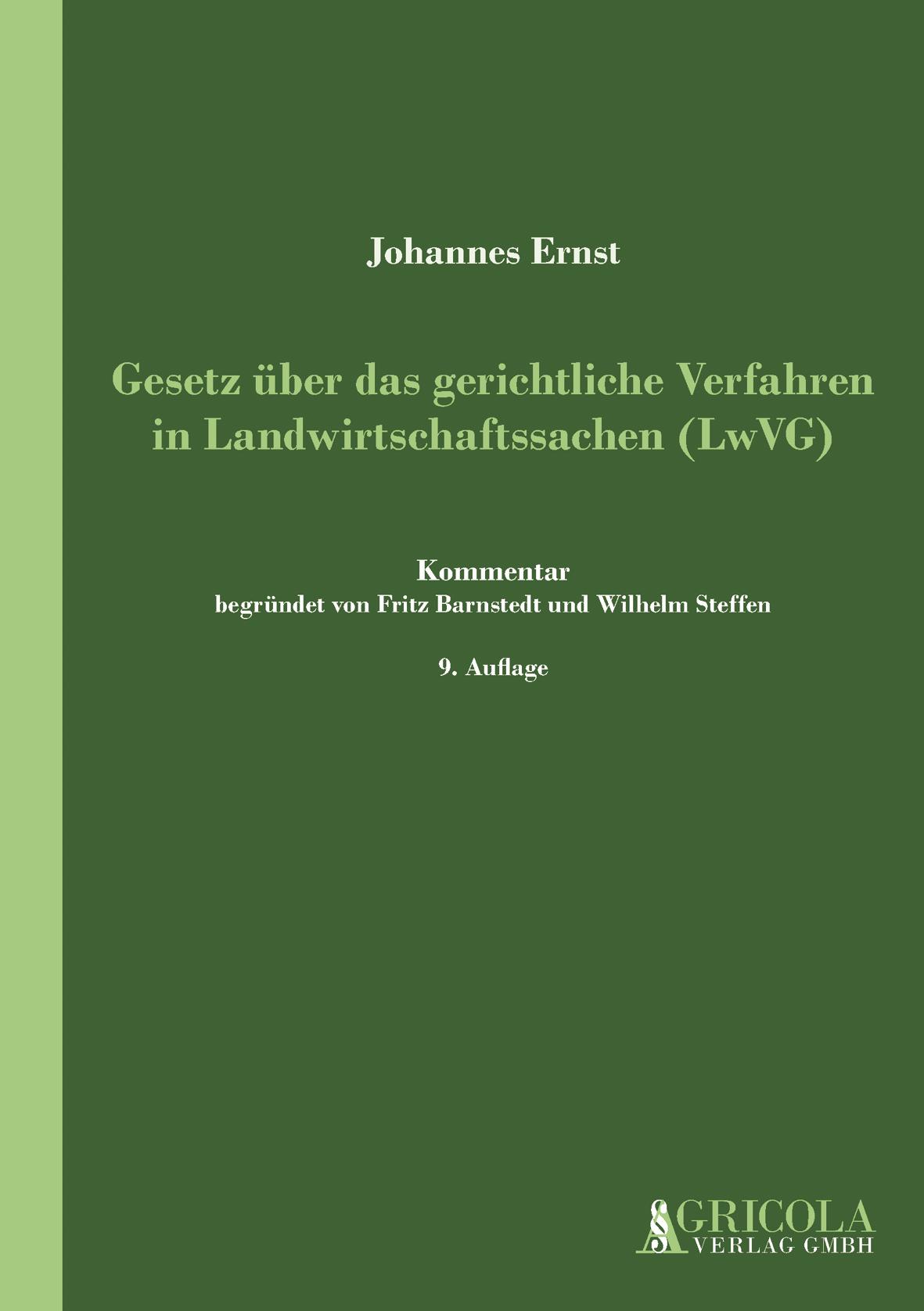 Gesetz über das gerichtliche Verfahren in Landwirtschaftssachen (LwVG)